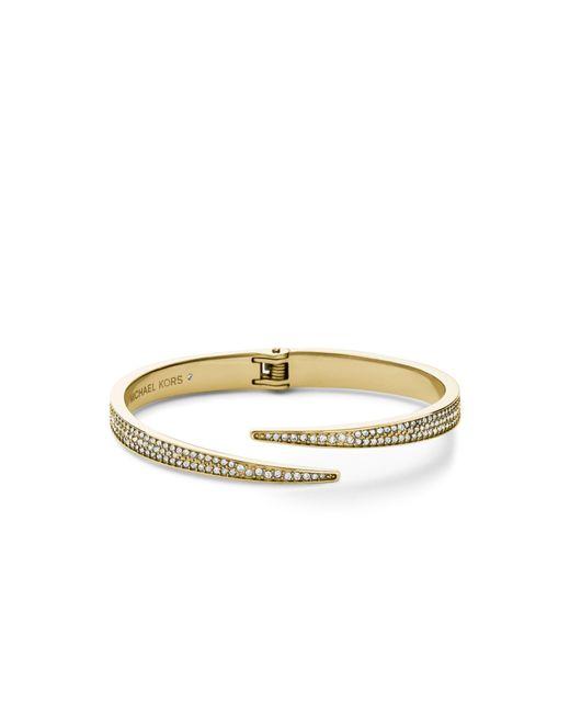 Michael Kors | Metallic Matchstick Pavé Gold-tone Cuff | Lyst
