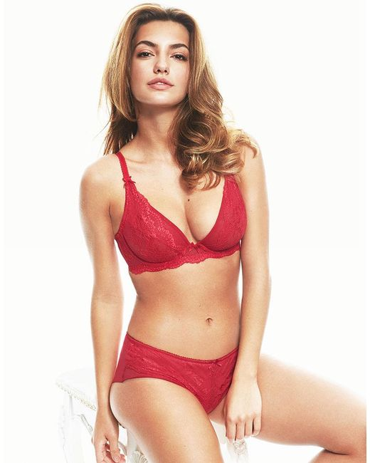 7def5fb81761 Figleaves Juliette Lace Non-pad Bra in Red - Save 23% - Lyst