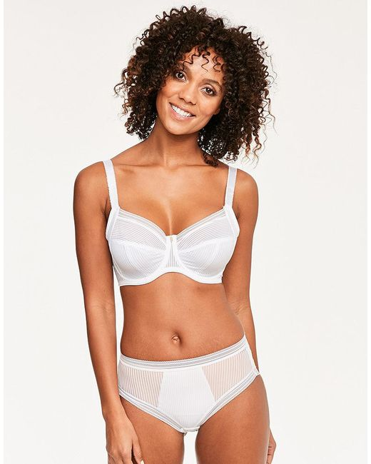 920611fb667 Fantasie - White Fusion Full Cup Side Support Bra - Lyst ...