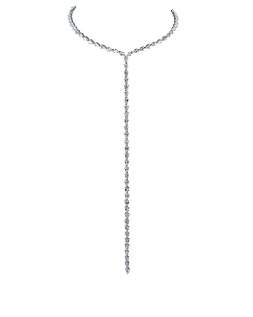 Fallon - Metallic Marquis Silver Drop Necklace - Lyst