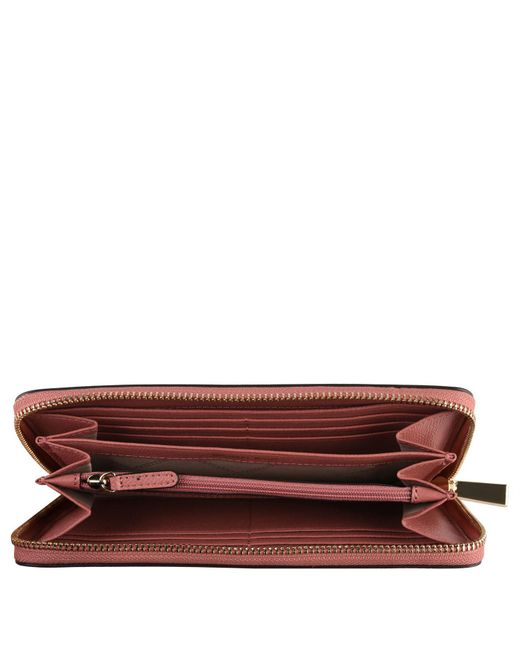 28c8f81d905a ... MICHAEL Michael Kors - Pink Leather Continental Wallet - Lyst ...