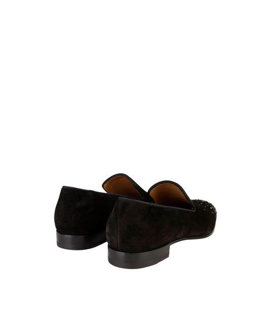 1f4445e66fe ... Christian Louboutin - Black Dandelion Loafers for Men - Lyst ...