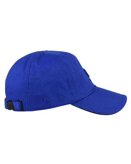 0c80a07e43a ... C P Company - Blue Logo Cap for Men - Lyst ...