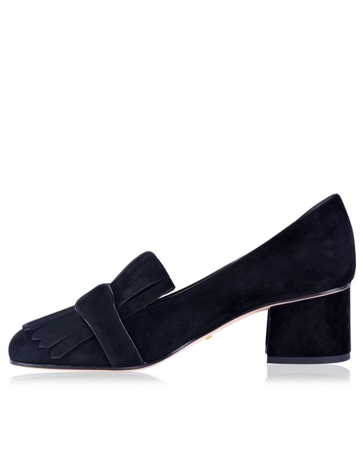 e80d2a7390e ... Gucci - Blue Marmont Fringe Loafers - Lyst ...
