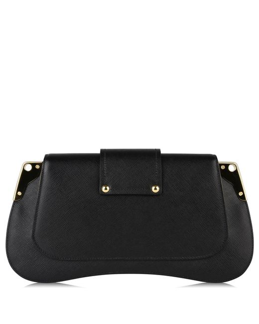 3ff3d6529a6e ... Prada - Black Sidonie Leather Shoulder Bag - Lyst ...