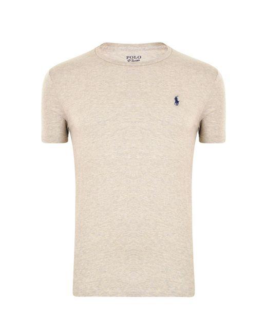 Polo Ralph Lauren - Gray Custom Slim Fit Crew Neck T Shirt for Men - Lyst