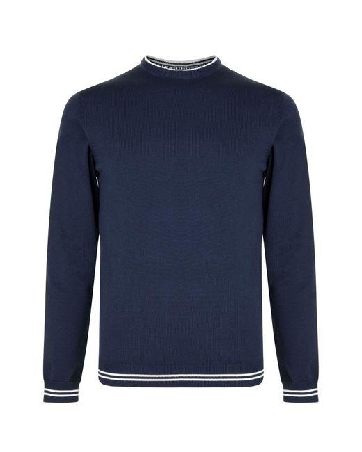 BOSS Green - Blue Rime Crew Knit Jumper for Men - Lyst