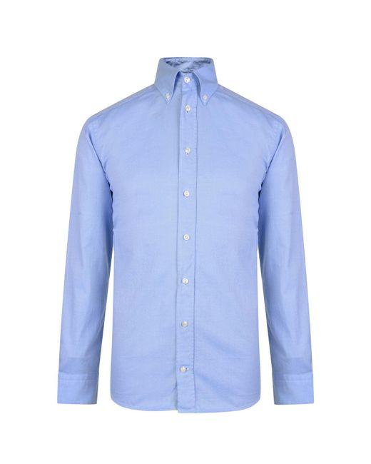 a96160886d7 ... Eton of Sweden - Blue Slim Fit Oxford Shirt for Men - Lyst ...