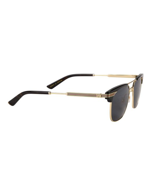 6eaff01f39c ... Gucci - Multicolor Gg0287s Square Frame Metal Sunglasses - Lyst ...