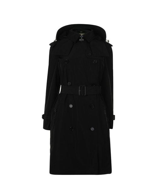 Burberry Black Amberford Hooded Trench Coat