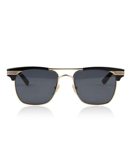 9ea14be61b Gucci - Multicolor Gg0287s Square Frame Metal Sunglasses - Lyst ...