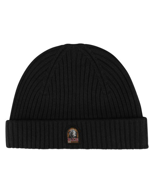 Parajumpers - Black Rib Knitted Beanie Hat for Men - Lyst