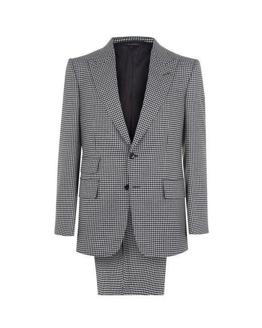 Tom Ford Gray Hounds Tooth Wool Two Piece Suit for men