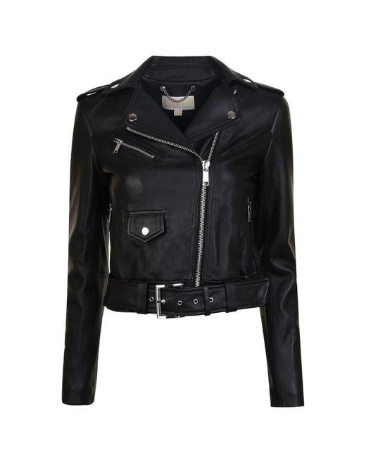 MICHAEL Michael Kors - Black Classic Leather Jacket - Lyst