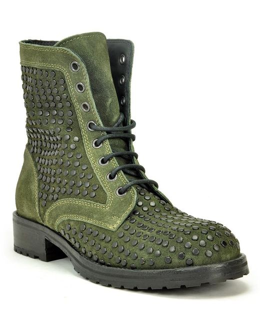 275 Central - Green Studded Suede Lug Sole Ankle Boot - Lyst