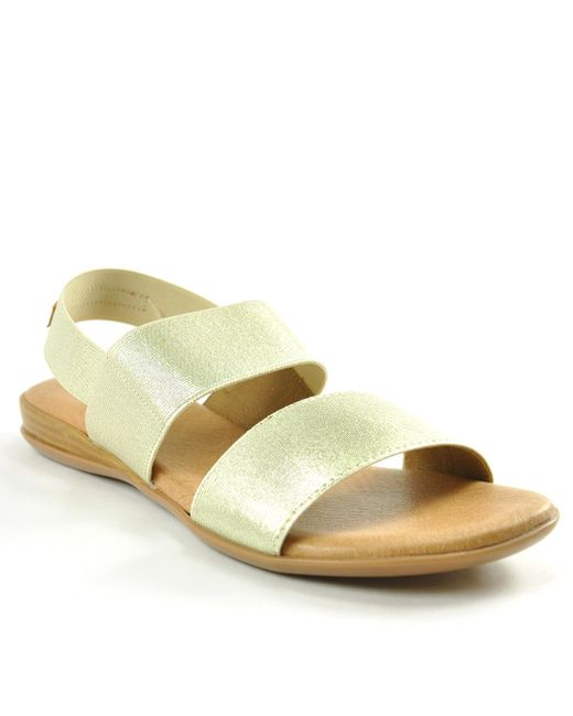 Andre Assous - Metallic Elastic Double Banded Flat - Lyst