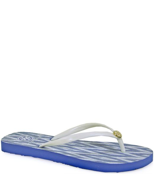 Tory Burch - White Patterned Thongs - Lyst