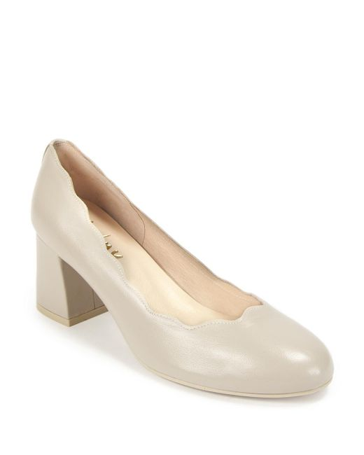 French Sole - Natural Scalloped Pump - Lyst