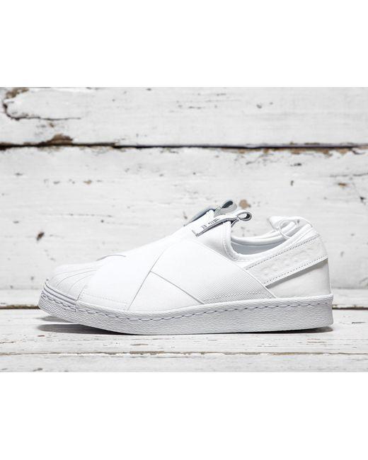 Adidas Originals   White Superstar Slip-on   Lyst