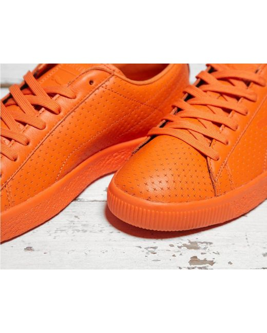 2461e5b8dd015e ... PUMA - Red X Trapstar Clyde Perforated for Men - Lyst ...