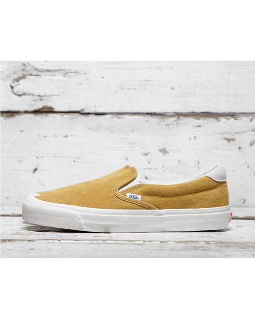 Vans - Yellow Og Slip-on 59 Lx for Men - Lyst ... b62bc799f