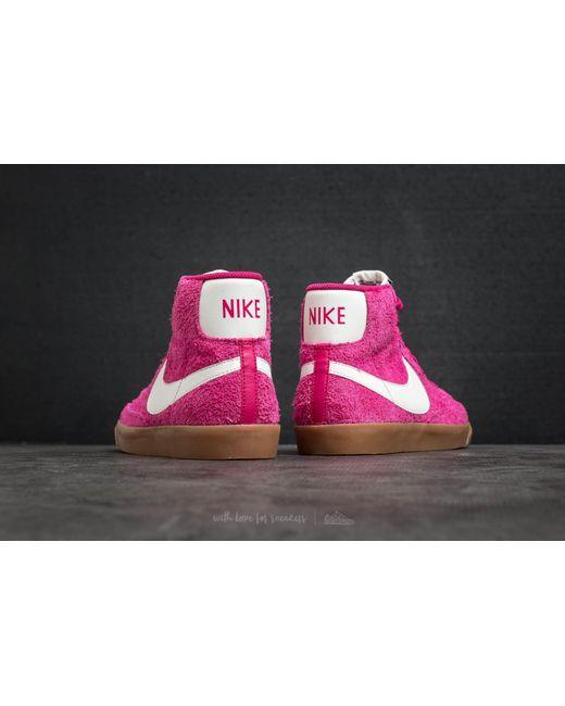 ... Nike - Multicolor Wmns Blazer Mid Suede Vintage Sport Fuchsia/  Sail-sail - Lyst ...