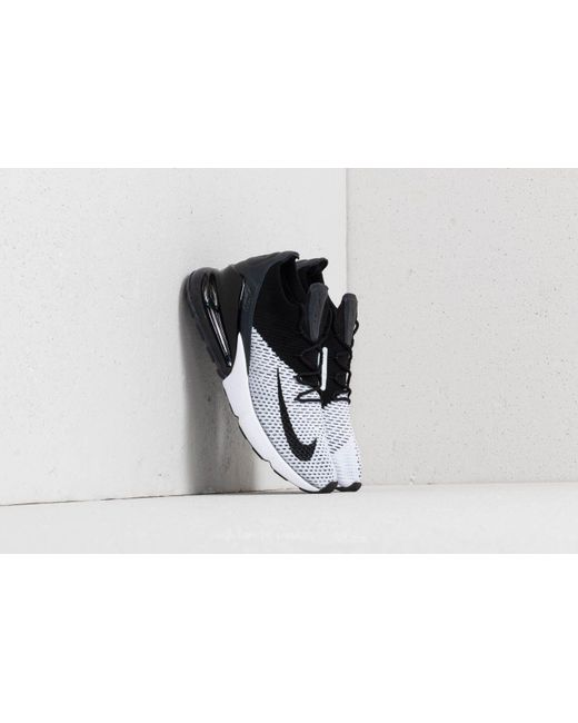 fe28af10e9 Nike - Air Max 270 Flyknit White/ Black-anthracite for Men - Lyst .