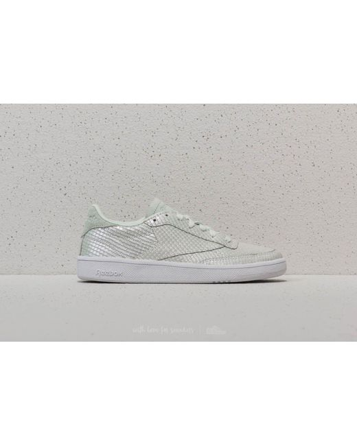 Reebok Club C 85 Textural Cloud Grey/ White/ Iridescent eTzDU