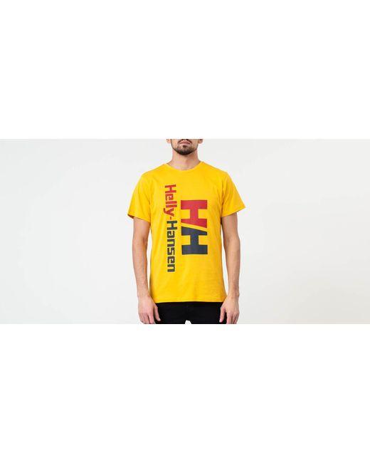 ee135805768d Helly Hansen - Yellow Urban Retro Short Sleeve T-shirt for Men - Lyst ...