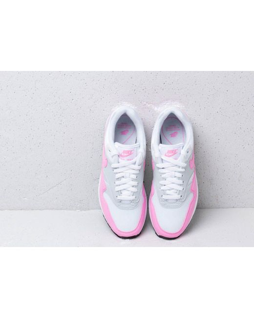 quality design 029d5 8c742 ... Nike - W Air Max 1 Essential White  Psychic Pink - Lyst ...