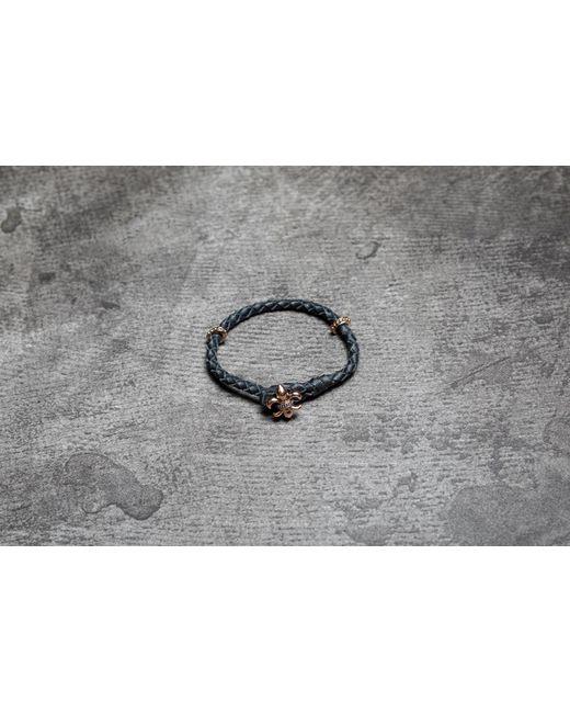 Footshop   Metallic Rebel Heritage Lys Leather Bracelet Black/ Rose Gold   Lyst