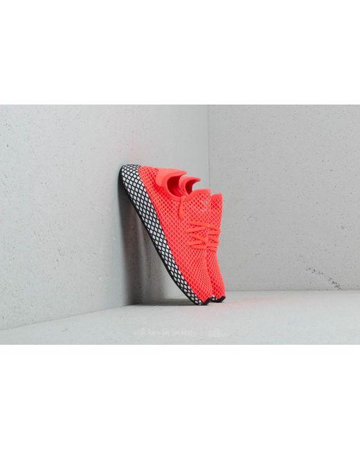 lyst adidas originali adidas deerupt turbo / turbo / nucleo nero in rosso