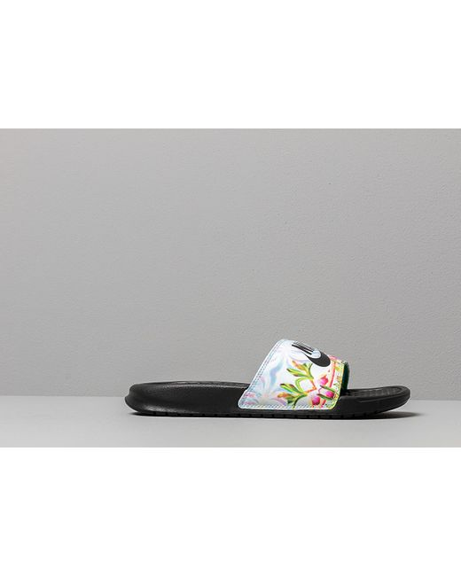 the latest b9f38 1848c ... Nike - Black Benassi Jdi Floral Slide - Lyst ...