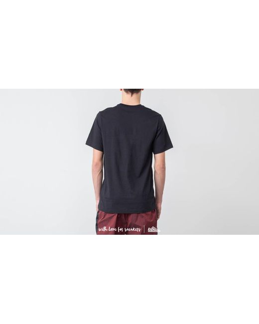 7b67a3936fb7 ... Nike - Jumpman Flight Hbr Tee Black  Gym Red for Men - Lyst ...