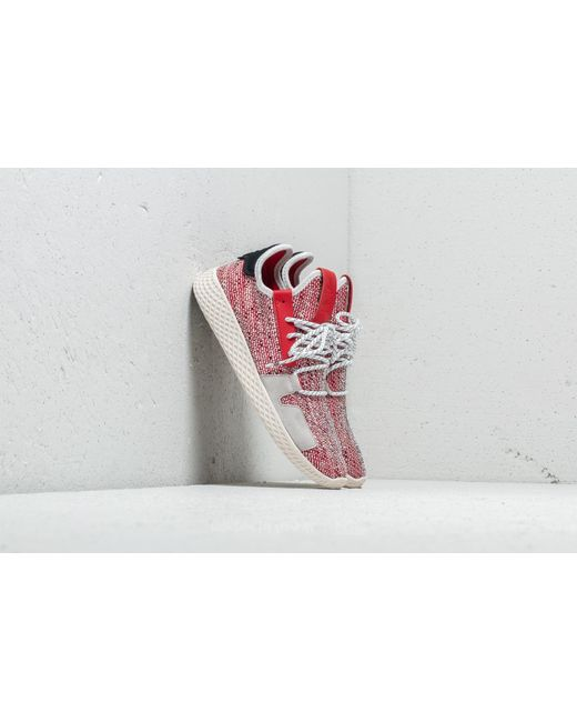 new products a6a6e 4bd6c Adidas Originals - Adidas X Pharrell Williams Solar Hu Tennis V2 Scarlet Ftw  White ...