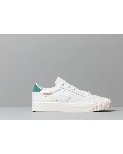 Women's Adidas Everyn W Ftw White Ftw White Collegiate Green
