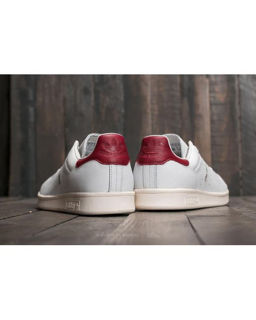 ... Adidas Originals - Adidas Stan Smith Ftw White/ Ftw White/ Core Burgundy for Men ...