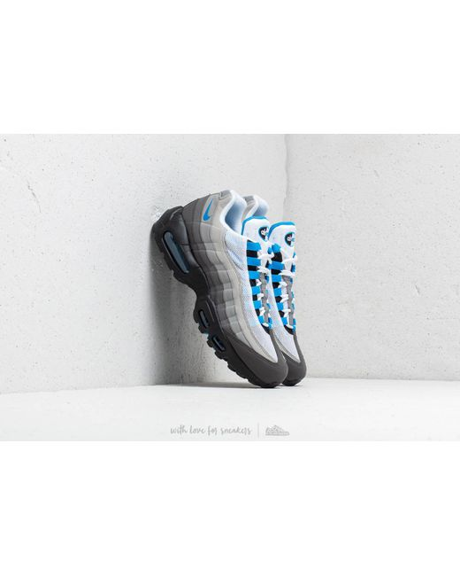 Lyst - Nike Air Max 95  99 White  Crystal Blue in Blue for Men 5a49306fd