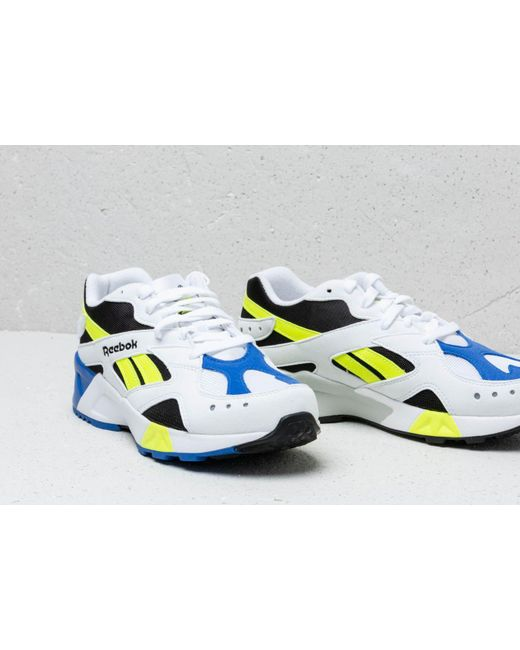 48feaa53016 Lyst - Reebok Reebok Aztrek White  Black  Cobalt  Yellow in White