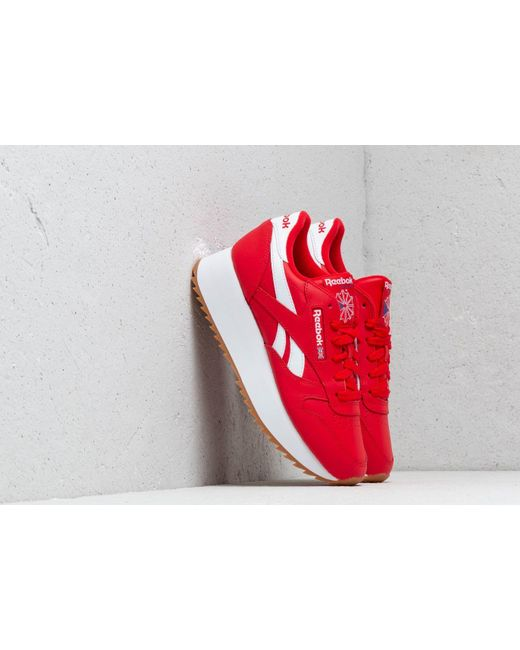 c34e6537d1836 Reebok Leather Double W Primal Red  White  Cobalt in Red for Men - Lyst