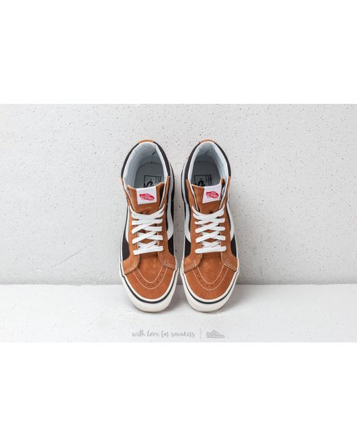 5f24b8bb009 Lyst - Vans Sk8-hi 38 Dx (anaheim Factory) Og Hart Brown  Og Black ...
