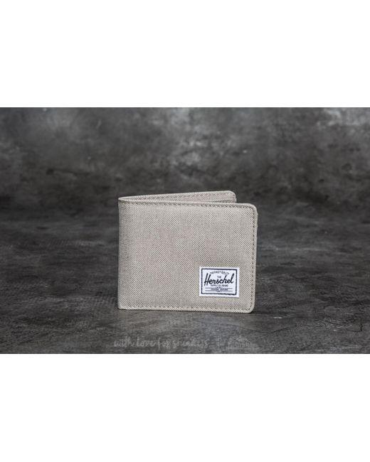 Herschel Supply Co.   Gray Roy Pl+ Wallet Light Khaki Crosshatch for Men   Lyst
