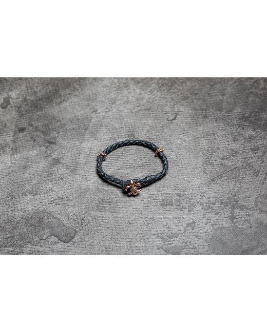 Footshop | Metallic Rebel Heritage Lys Leather Bracelet Black/ Rose Gold | Lyst
