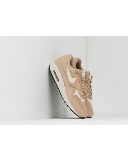 new style 1920c 8c5a5 Nike - Wmns Air Max 1 Prm Linen  Pale Ivory-summit White-black ...