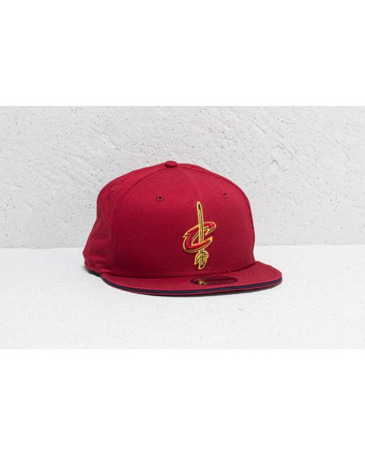 bf00299006dbc6 Lyst - KTZ 9fifty Nba Cleveland Cavaliers Cap Red in Red for Men ...