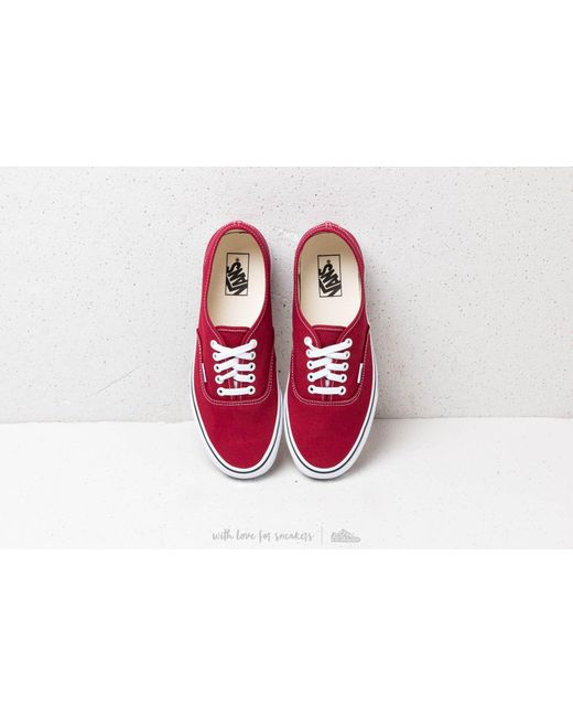 ... Vans - Authentic Rumba Red  True White for Men - Lyst ... 92ecf01fd
