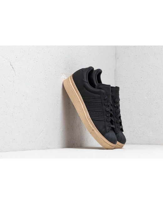 Adidas Originals Adidas Superstar 80s New Bold W Core Black Core Black Gold Metallic Lyst