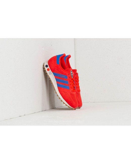 Lyst adidas originali adidas la trainer - rosso / hi - res blu.