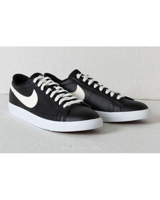 ... Footshop - Nike Blazer Low Leather Black/ Sail-gum Med Brown for Men -