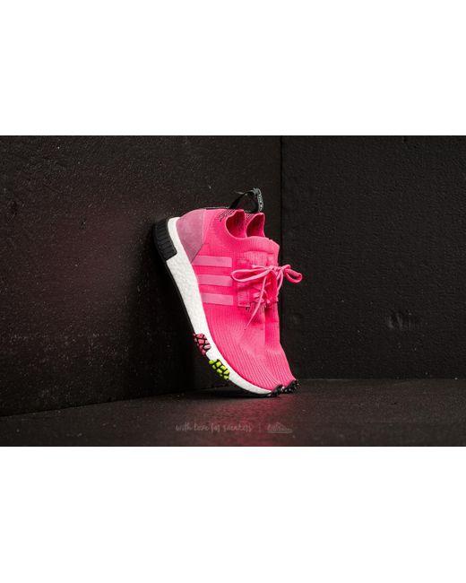 lyst adidas originals adidas nmd racer primeknit solar rosa / solar
